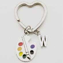 Креативное кольцо для ключей в форме сердца подвеска художника