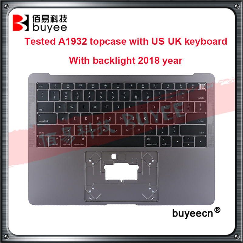 <font><b>A1932</b></font> Original New palmrest <font><b>A1932</b></font> topcase with US UK <font><b>keyboard</b></font> With backlight Silver Grey Gold for Macbook Air 13