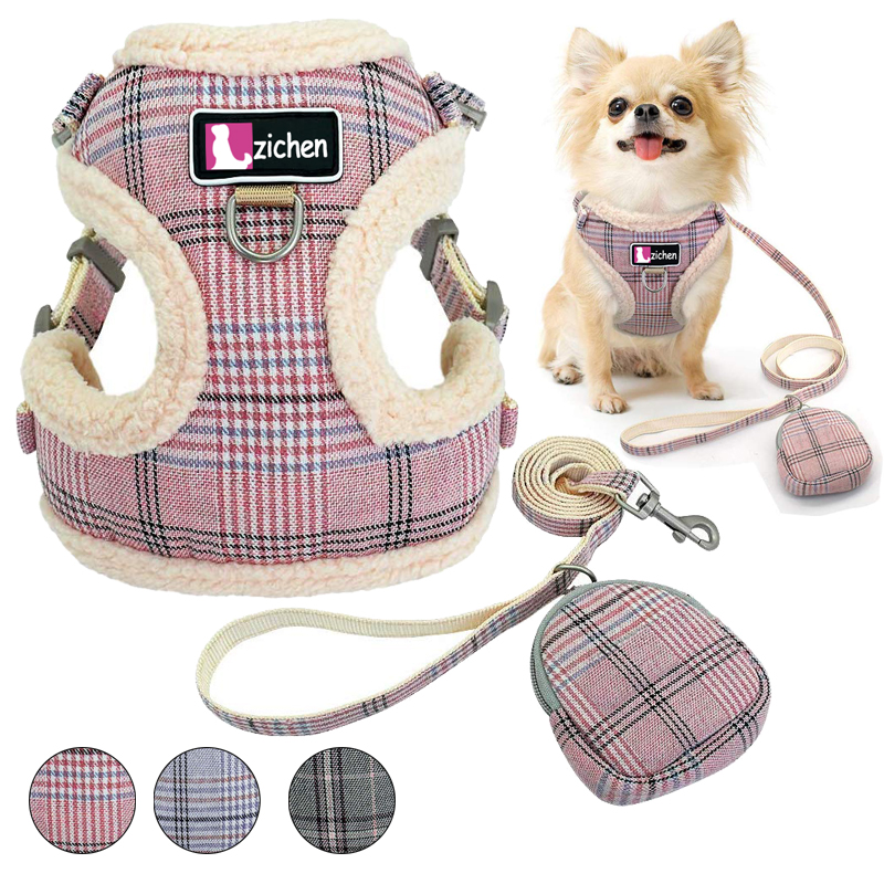 Pet Dog Harnesses Vest Chihuahua Puppy Cat Soft No Pull Adjustable Harness Leash Set For Small Medium Dogs Coat Arnes Perro
