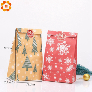 Image 4 - 1SET Mix Types Deer Snowflakes Candy Gift Bags With Stickers Merry Christmas Guests Packaging Boxes Christmas Party Gift Decor