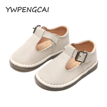 YWPENGCAI 2020 Spring Autumn Children PU Leather Shoes Girls