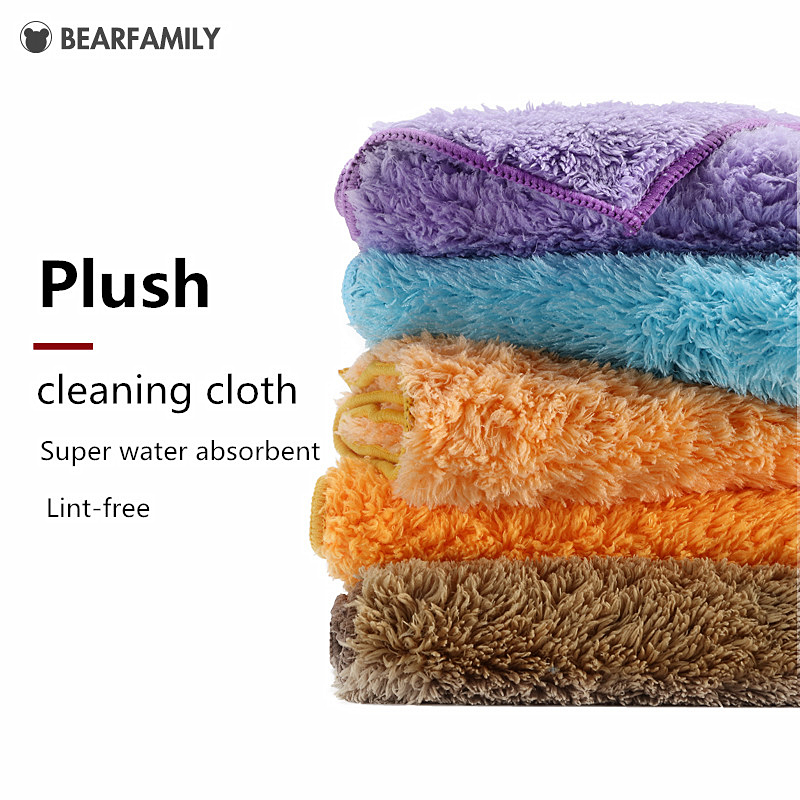 3/4PCS Plush Microfiber cloth household cleaning cloth better than cotton kitchen towels micro fiber towel kitchen towel thick