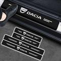 4x углеродного волокна переводная картинка порога протектор Стикеры для Dacia Duster Logan Sandero и многое другое Dokker Lodgy автомобильные аксессуары