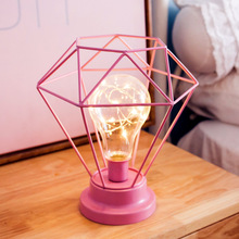 Creative table Lamp Fashion Diamond Hexagon Shape LED Night Lamp Bedside Lamp Bedroom Decoration Gift for Birthday Christmas D20 rose flower table lamp wedding decoration led night light heart shape luminaria bedside desk lamp for holiday christmas gift