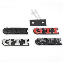 3d metal gti emblema adesivo estilo do carro grade dianteira tronco emblema acessórios para vw polo golf passat scirocco tiguan jetta T-ROC