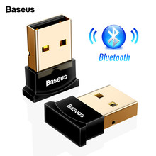 Baseus USB Bluetooth Dongle adaptador para computadora PC PS4 ratón Aux Audio Bluetooth 4,0 de 4,2 de 5,0 receptor de música altavoz transmisor(China)