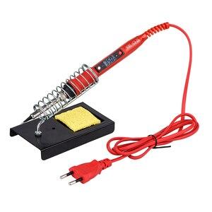 Image 2 - Kit per saldatore JCD temperatura regolabile 220V 80W LCD strumenti per saldatura a saldare riscaldatore in ceramica suggerimenti per la saldatura pompa dissaldante