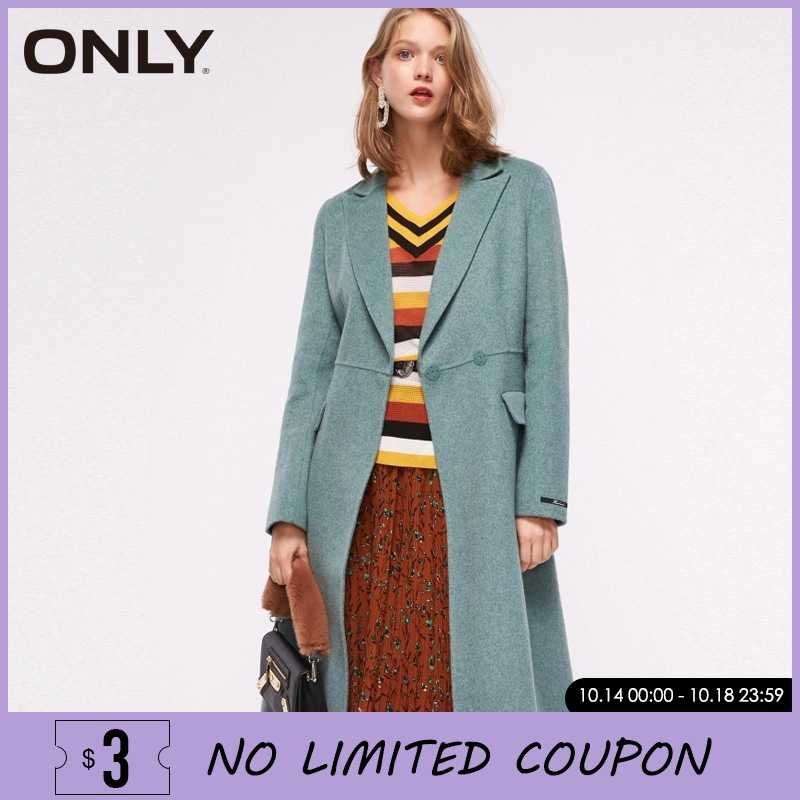 ONLY Women Autumn Winter 51% Wool Double-faced Coat Overcoat  | 11834S510