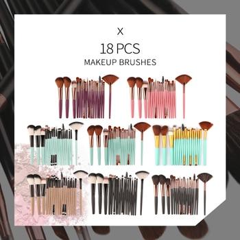 MAANGE 6/15/18/20Pcs Makeup Brushes Tool Set Cosmetic Powder Eye Shadow Foundation Blush Blending Beauty Make Up Brush Maquiagem 6
