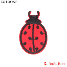 ZOTOONE Animal Patches Embroidered Iron on for Clothing DIY Forest Ladybug Motif Stripes Clothes Stickers G
