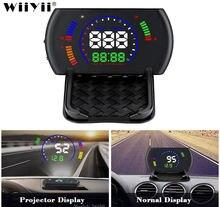 Автомобильный дисплей на лобовое стекло s600 проектор скорости