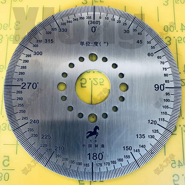 Material: Stainless Steel 201 Scale 360 Degree Scale Small Scale Protractor Stainless Steel Disc 100 # 20 # 2