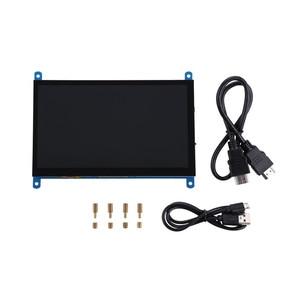 Image 5 - جديد 7 بوصة 1024x600 USB HDMI جهاز مراقبة بشاشة إل سي دي بالسعة شاشة تعمل باللمس حامل ل التوت بي ويندوز