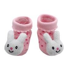 1 пара носков модные милые Нескользящие удобные Носки с рисунком для новорожденных девочек и мальчиков мягкие тапочки skarpetki