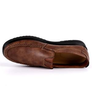 Image 5 - 2018 nuovo Confortevole Mens Casual Scarpe Vendita Calda Fannulloni Degli Uomini Scarpe In Pelle di Qualità Scarpe Degli Appartamenti Degli Uomini Mocassini Scarpe di Grande Formato 38 48