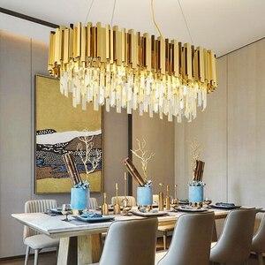 Image 2 - Jmmxiuz2018 nowy kryształowy luksusowy żyrandol nowoczesne oświetlenie do salonu jadalnia złoty kryształowy żyrandol LED lights