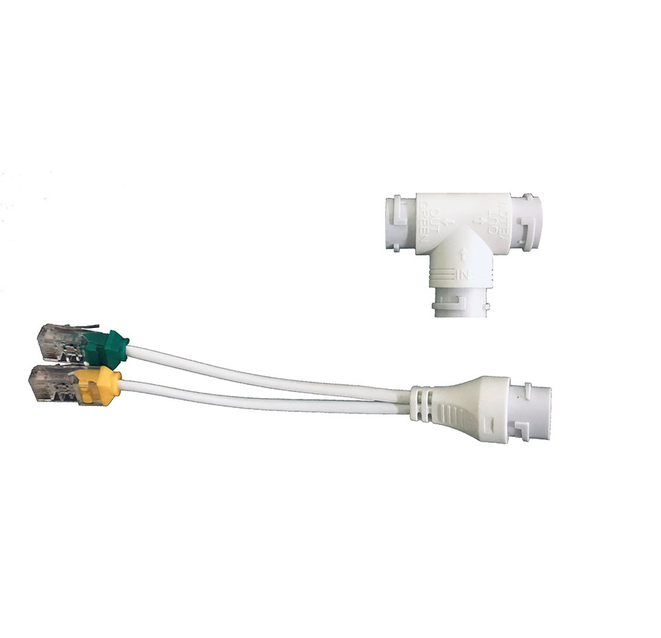 POE Camera simplified wiring connector, splitter, 2-in-1 network cabling on