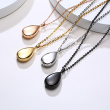 Modyle Elegant Water Drop Necklace for Women Hollow Cremation Urn Pendant Animal Grandpa Keepsake Memorial Jewelry