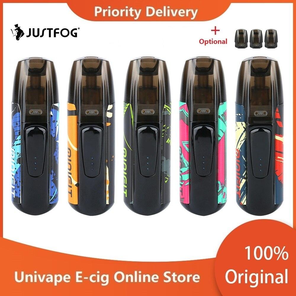 New Colors Kit JUSTFOG MINIFIT Pod Vape Kit W/ 370mAh Battery & 1.5ml Cartridge Pod System Pod Vape Kit Vs Drag Nano/ Kubi