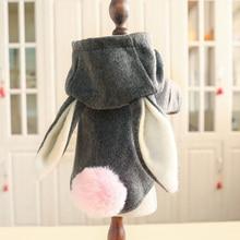 PETCIRCLE-ropa para perros, abrigo de lana y conejo con orejas grandes, para Otoño e Invierno