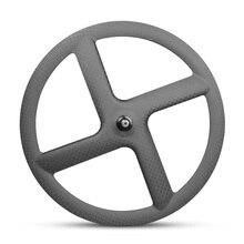цена на 2020 New Carbon Wheelset Tubular 40mm Wheels Clincher Wheels 3k Road bike 4 knife wheel Free Shipping