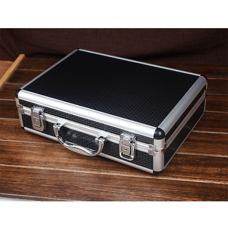 Portable Aluminum Alloy Toolbox File Storage Box Antishock Safety Equipment Tool Case Instrument Case Outdoor Box 325x235x100mm