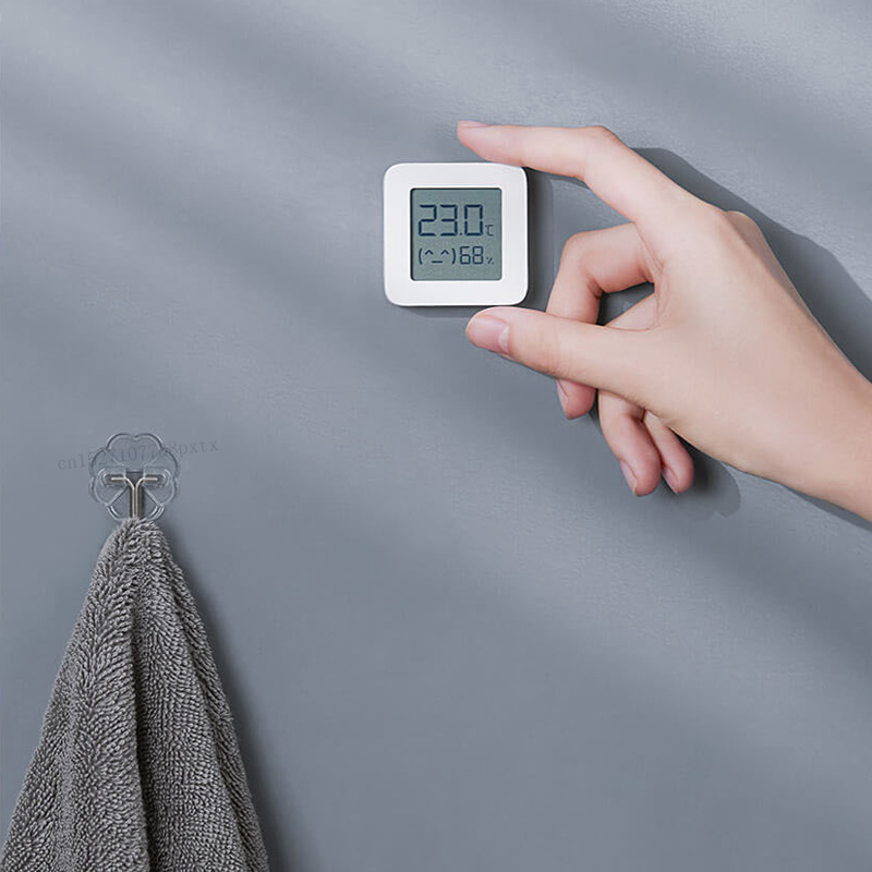 XIAOMI Bluetooth Digital Thermometer 2 LCD Screen Digital Moisture Meter Wireless Smart Temperature Humidity Sensor No Battery