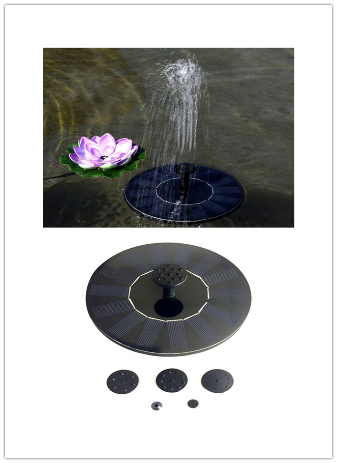 7V 1.4W Solar Fountain Watering kit Power Solar Pump Pool Pond Submersible Waterfall Floating Solar Water Fountain For Garden|Fountains & Bird Baths| |  - title=