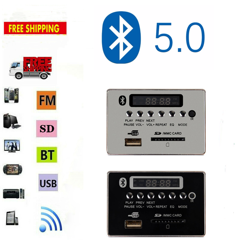 BT TF USB FM Aux Radio MP3 Player Integrated Car USB Bluetooth Hands-free MP3 Decoder Board Module Audio Refitting