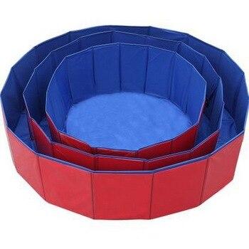 Bañera plegable para perros y mascotas, área de juguete para perros medianos y grandes dedicada a la piscina, al aire libre