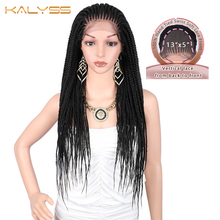 Kalyss 29 inches 13x5 Lace Parting Hand Braided Wigs Synthet