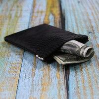Metallic Frame Coin Purse Women Men Mini Short Wallet Money Change Earphone Bag Pocket Portable Card Holder Solid Black Pouch|Coin Purses|   -