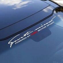 Автомобиль спереди и сзади лобовое стекло наклейка WRC для Audi A3 A4 B8 B6 B7 Защитные чехлы для сидений, сшитые специально для Opel Astra Ford Focus 2 3 1 BMW E46 E90...