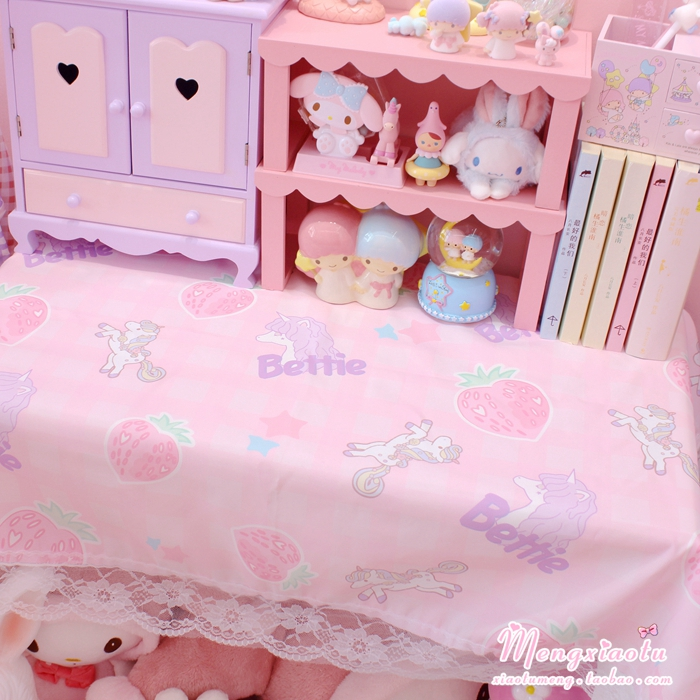 100*70CM Pink Unicorn Book Desk Table Cover Cute Tablecloth Decoration Dormitory Kawaii Cosplay Accessories For Girls New Gifts