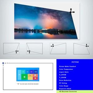 Image 4 - جهاز عرض REAL TV M8S Full HD 1080P بدقة 4K 7000 لومن سينما متعاطي المخدرات أندرويد واي فاي Airplay HDMI VGA AV USB مع هدية