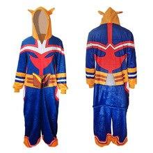 Japan Anime My Hero Academia Pajamas All Might Cosplay Costumes Cartoon Cute Jumpsuits Leisure Wear