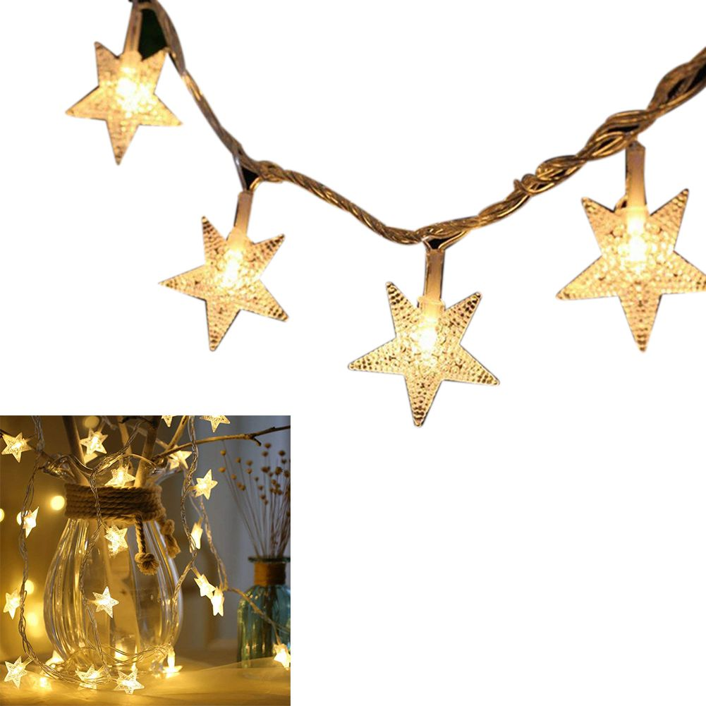 Star String Lights, 16Ft 50 LED String Lights Battery Powered Starry Fairy String Light For Wedding Party Christmas Garden Patio