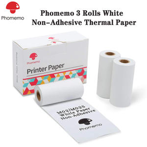 Phomemo White Non-Adhesive Thermal Roll Paper Black Character Durable for Phomemo-M02/M02S/M02Pro