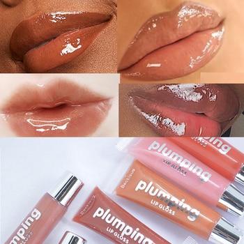 Profesjonalne błyszczące wiśniowe witaminy Olie hydratorende Plumping jasne błyszczyk objętość odcień matowy Vloeibare szminka makijaż TSLM1