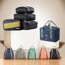 Men Women Travel Totes Packing Cubes Clothes Shoes Underwear Suitcase Organizer Zipper Pouch Set Wardrobe Luggage Storage Bags