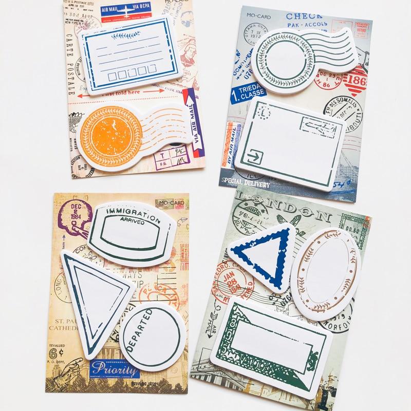 1X Vintage Retro Postage Design Memo Pad Plan Message Sticky Notes