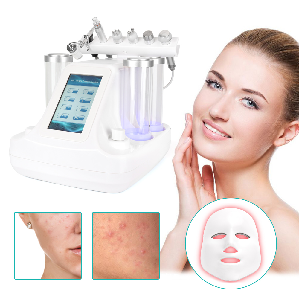7 In 1 Hydra Dermabrasion Peel Clean Skin Tight Care BIO Light RF Vacuum Face Skin Cleaning Hydro Water Oxygen Jet Peel Machine