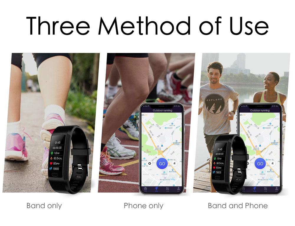 Hfec94102a2f24aad9acf3bcf9f946a38J Fitness Bracelet Blood Pressure Measurement Waterproof Smart Band Bracelet Watch Fitness Tracker Heart Rate Activity Tracker