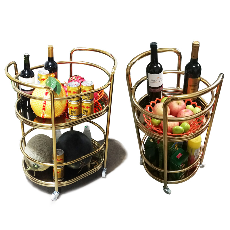 Hotel 4S Shop, Wine Car, KTV Mobile Dining Car Service Trolley, Stainless Steel Trolley