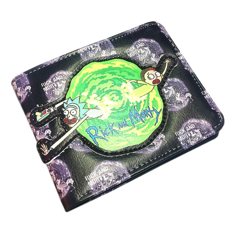 Anime Rick And Morty Short Leather Wallet Cartoon Embossed Design Men Women's Purse Card Holder Money Bag