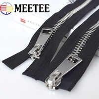 1pc Cremallera Metall 8 # Doppel Slider Metall Reißverschlüsse Umweltfreundliche Open-end-reißverschluss Für Nähen Unten Mantel Bekleidung Zubehör