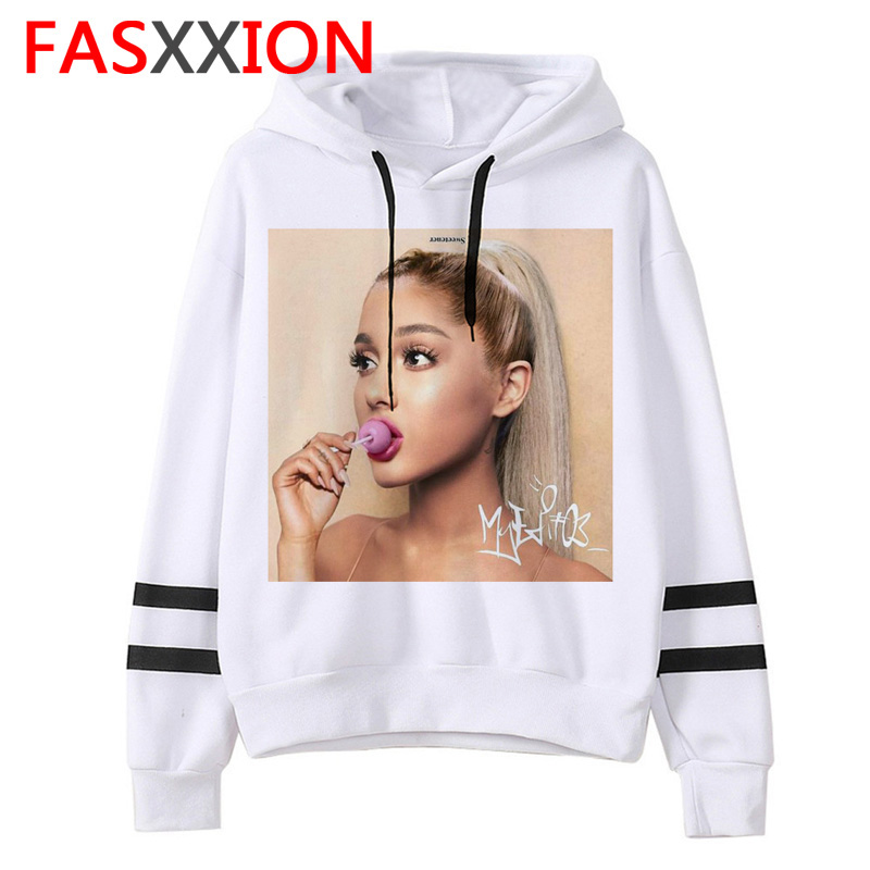 Ariana Grande Hoodie Harajuku Funny Women Ulzzang 90s Sweatshirt Clothes Casual Female Graphic Vintage Pullovers Oversized