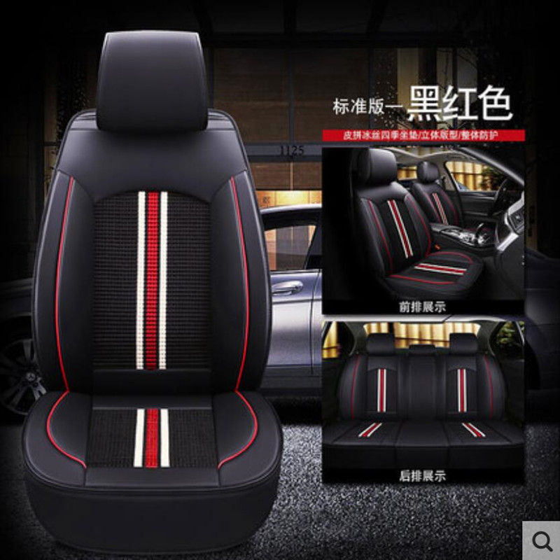 Car Seat Covers 2 Front PU Leather Compatible to Toyota 855 Black//Gray