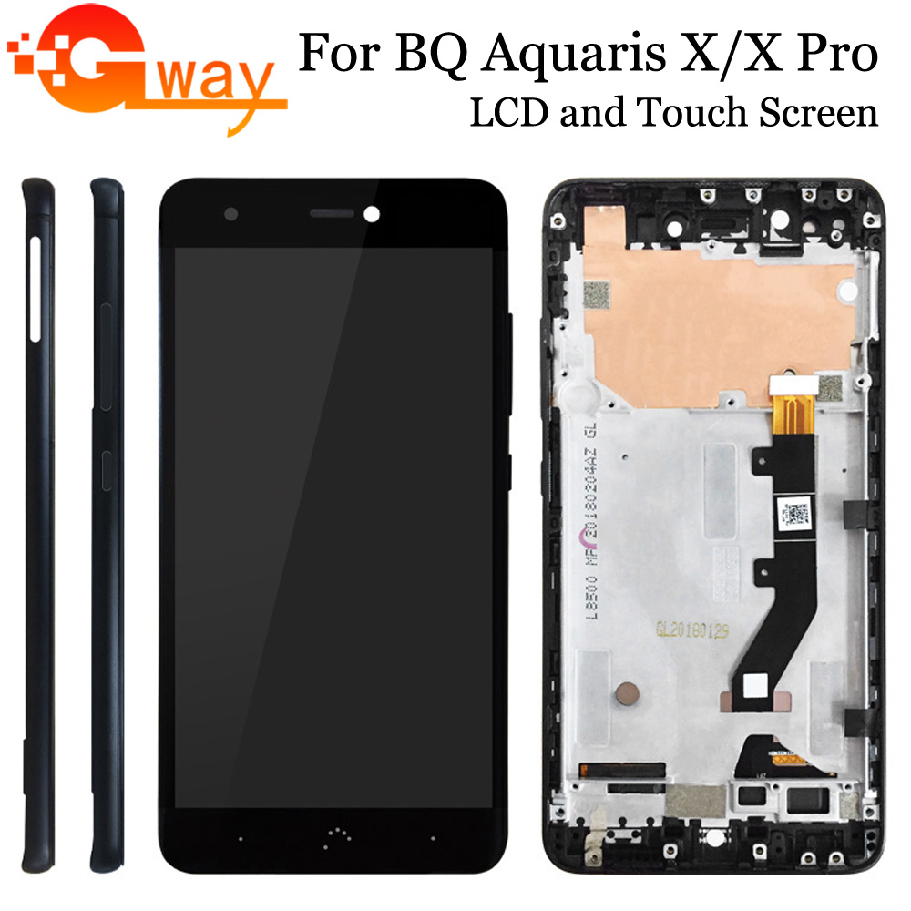 For BQ Aquaris X Pro LCD New Stock High Quality Display+Touch Screen Digitizer For BQ Aquaris X / X  Pro LCD Assembly With Frame
