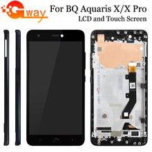 Tela de alta qualidade para lcd bq aquaris x pro, digitalizador touch screen para bq aquaris x/montagem lcd x pro com moldura